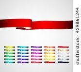 vector ribbons set | Shutterstock .eps vector #429861244