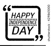 happy independence day... | Shutterstock .eps vector #429865000