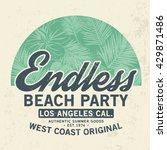 summer tee print design with... | Shutterstock .eps vector #429871486
