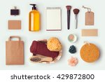 cosmetic spa mock up template... | Shutterstock . vector #429872800