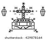 voodoo spirit loa baron samedi... | Shutterstock .eps vector #429878164