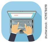 laptop personal computer... | Shutterstock .eps vector #429878698