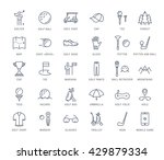 set vector line icons with open ... | Shutterstock .eps vector #429879334