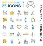 set vector line icons in flat... | Shutterstock .eps vector #429879388