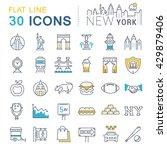 set vector line icons in flat...   Shutterstock .eps vector #429879406