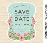 vintage save the date wedding... | Shutterstock .eps vector #429890008