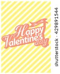 happy valentine day card vector ... | Shutterstock .eps vector #429891544
