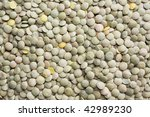 Background of lentils - stock photo
