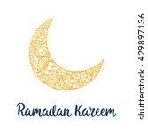 ramadan kareem theme. vector... | Shutterstock .eps vector #429897136