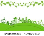 abstract ecology connection... | Shutterstock .eps vector #429899410