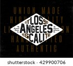 los angeles grunge california... | Shutterstock .eps vector #429900706