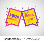 thank you followers colorful... | Shutterstock .eps vector #429903610