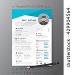 clean modern design template of ... | Shutterstock .eps vector #429904564