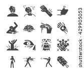 zombie icons set. included the... | Shutterstock .eps vector #429905053