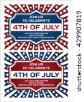 4th of july invitation card | Shutterstock .eps vector #429907819