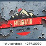 mountain expedition sign on a... | Shutterstock .eps vector #429910030