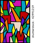 drawing abstract stained glass... | Shutterstock . vector #42991219