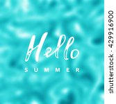 summer vector. background sea... | Shutterstock .eps vector #429916900