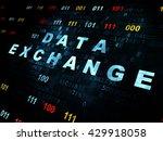 data concept  pixelated blue... | Shutterstock . vector #429918058