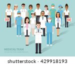 group of doctors and nurses and ... | Shutterstock .eps vector #429918193