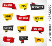 vector stickers  price tag ... | Shutterstock .eps vector #429922030