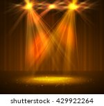 spotlight on stage with smoke... | Shutterstock .eps vector #429922264