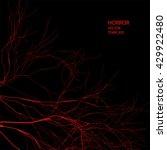 horror vector background. red... | Shutterstock .eps vector #429922480
