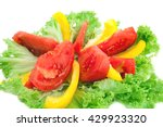 fresh mixed vegetables salad.... | Shutterstock . vector #429923320