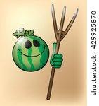 shiny watermelon | Shutterstock .eps vector #429925870