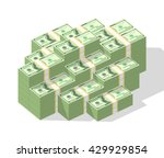 big money concept. stacked pile ...