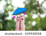 Finger Art Of A Happy Couple. ...
