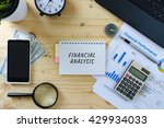 business concept.top view of... | Shutterstock . vector #429934033