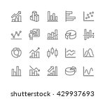 simple set of graph related... | Shutterstock .eps vector #429937693