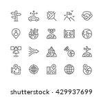 simple set of global navigation ... | Shutterstock .eps vector #429937699
