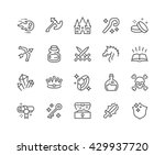 simple set of fantasy related... | Shutterstock .eps vector #429937720