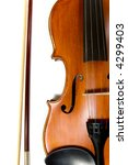 a violin or fiddle and bow on... | Shutterstock . vector #4299403