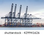 container cargo freight ship... | Shutterstock . vector #429941626