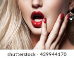 fashion blonde woman with... | Shutterstock . vector #429944170