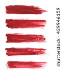 strokes of red paint isolated... | Shutterstock . vector #429946159