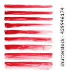 strokes of red paint isolated... | Shutterstock . vector #429946174