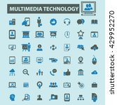 multimedia technology icons  | Shutterstock .eps vector #429952270
