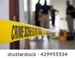 Crime Scene Tape In Building...
