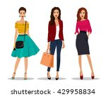 beautiful young women in... | Shutterstock .eps vector #429958834