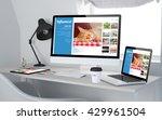 3d rendering of workroom with...   Shutterstock . vector #429961504