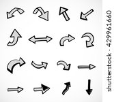 hand drawn arrows  vector set | Shutterstock .eps vector #429961660