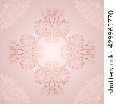 delicate  beautiful ornament... | Shutterstock .eps vector #429965770