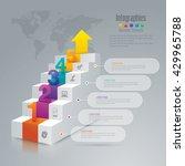 staircase 3d digital... | Shutterstock .eps vector #429965788