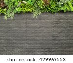 dark grey black brick wall with ... | Shutterstock . vector #429969553