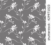spring flowers seamless pattern | Shutterstock .eps vector #429971023