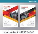 flyer leaflet brochure... | Shutterstock .eps vector #429974848